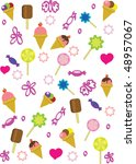 the vector illustration with... | Shutterstock . vector #48957067