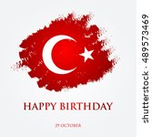 happy birthday turkey  ... | Shutterstock . vector #489573469