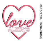 love in a heart.graphic for t...   Shutterstock .eps vector #489577240