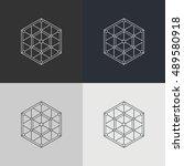 abstract technology element.... | Shutterstock .eps vector #489580918
