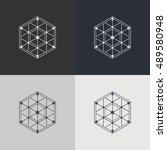 abstract technology element.... | Shutterstock .eps vector #489580948