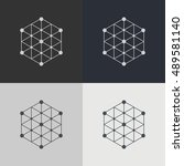 abstract technology element.... | Shutterstock .eps vector #489581140
