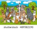 cartoon illustration of... | Shutterstock .eps vector #489582190