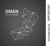 oman triangle perspective... | Shutterstock .eps vector #489584569