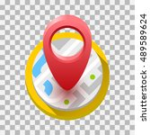 map icon. vector illustration | Shutterstock .eps vector #489589624