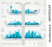 abstract stylish cityscape... | Shutterstock .eps vector #489590239