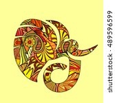 elephant | Shutterstock .eps vector #489596599