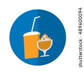 simple flat design drinks icon...