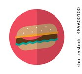 simple flat design burger icon...