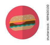 simple flat design burger icon...
