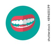 simple flat design smile mouth...
