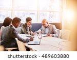 four business professionals...   Shutterstock . vector #489603880