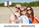 summer vacation  holidays ... | Shutterstock . vector #489604696