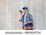leisure  technology ... | Shutterstock . vector #489604714