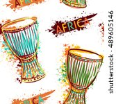 Seamless Pattern With African...