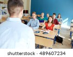 education  learning  teaching... | Shutterstock . vector #489607234