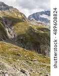 Small photo of View from Zillertaler Alpen - border of Austria and Italy, road to hochfeiler hutte