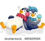 mascot illustration of a cute... | Shutterstock .eps vector #489609004
