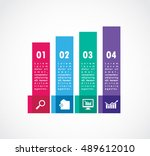 flat vertical ribbon square of... | Shutterstock .eps vector #489612010