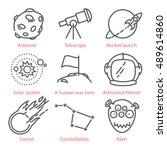 vector thin line cartoon icons...