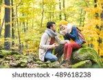 Beautiful Couple In Autumn...