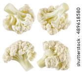 Cauliflower. Piece Isolated On...