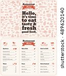 restaurant menu brochure  ... | Shutterstock .eps vector #489620140