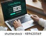 internet online banking pay... | Shutterstock . vector #489620569