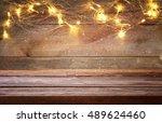 empty table in front of...   Shutterstock . vector #489624460
