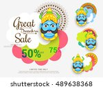 creative illustration sale... | Shutterstock .eps vector #489638368