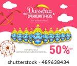 creative illustration sale... | Shutterstock .eps vector #489638434