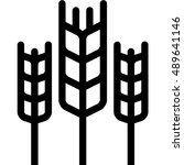 wheat outline icon | Shutterstock .eps vector #489641146