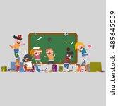 3d illustration. students...   Shutterstock . vector #489645559