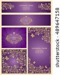 set of ornate violet templates... | Shutterstock .eps vector #489647158