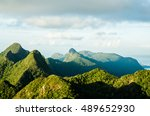 mountain view from the top of... | Shutterstock . vector #489652930