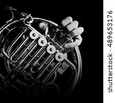French Horn Music Instrument...