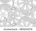 hand drawn antistress... | Shutterstock .eps vector #489654376