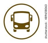 bus icon. flat design. | Shutterstock .eps vector #489658063