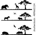 vector illustration of set of... | Shutterstock .eps vector #489661114