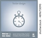 stopwatch icon   Shutterstock .eps vector #489673090