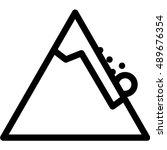 avalanche | Shutterstock .eps vector #489676354