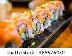 Salmon Sushi Roll   Japanese...