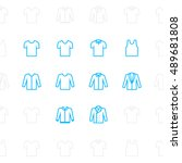 fashion clothes icons  outline...
