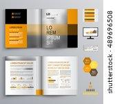 classic business brochure... | Shutterstock .eps vector #489696508