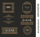 vector logo design template  ... | Shutterstock .eps vector #489698548
