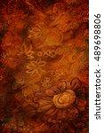 luxury gold brown background... | Shutterstock . vector #489698806