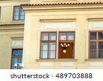 prague  old town  residential...   Shutterstock . vector #489703888