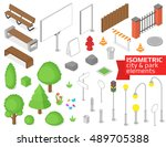 Isometric City And Park...