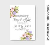 wedding invitation | Shutterstock .eps vector #489709093