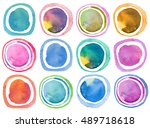 abstract acrylic and watercolor ... | Shutterstock . vector #489718618